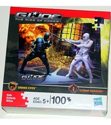 GI Joe: Rise of Cobra Snake Eyes vs Storm Shadow puzzle