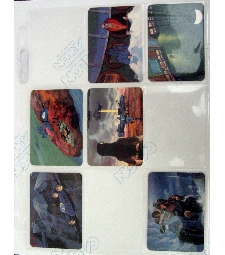 9 pocket trading card pages 25ct