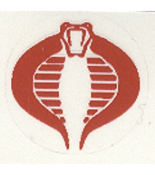 Cobra insignia decal - medium
