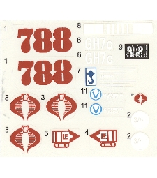 Cobra HISS 1983 custom reproduction decal sheet