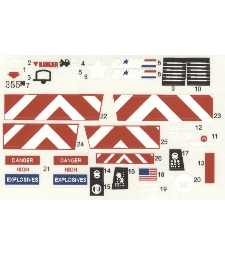 Weapon Transport 1985 custom reproduction decals